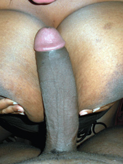 Black dick fucks huge black tits